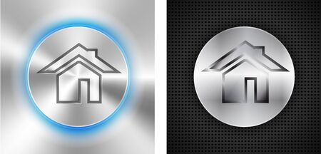 Abstract technological backgrounds with home icon   illustration Stock Vector - 18791876
