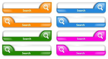 Colorful search bar design illustration Stock Vector - 18791875