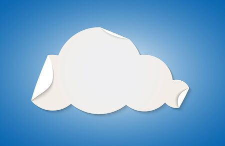 Cloud shape cut by white folded paper  Vector illustration Vector