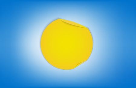 fiambres: Signo Tiempo soleado hecho por la ilustración vectorial papel plegado