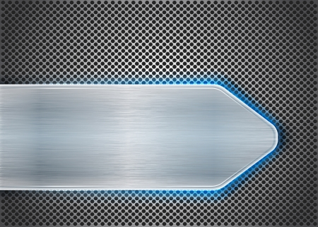 inset: Brushed metal on textured metal. Abstract background. Vector illustration