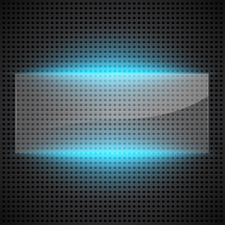 Technological abstract background with glass foreground. Vector illustration Vector