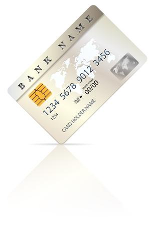 Credit or debit card design template   Illustration
