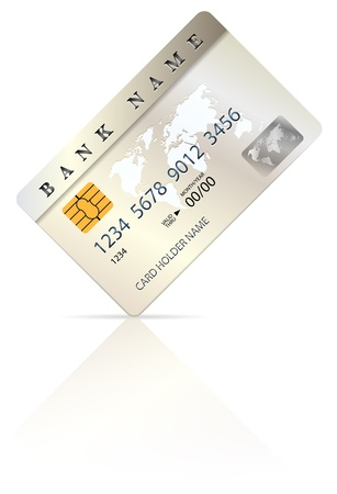 debit cards: Credit or debit card design template   Illustration