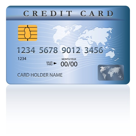 credit card purchase: Credit or debit card design template. Vector illustration Illustration
