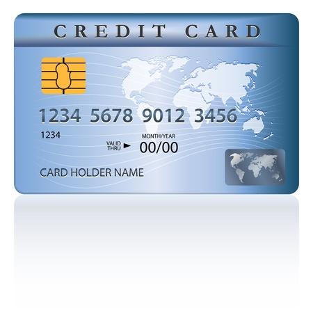 personalausweis: Kredit-oder Debit-Karte Design-Vorlage. Vektor-Illustration