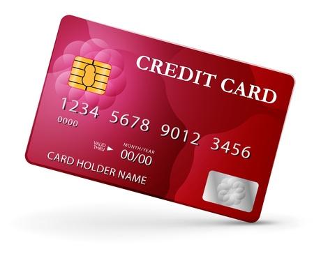 Credit card design template.