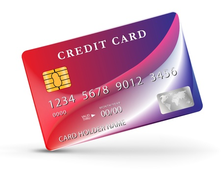 secure payment: Credit or debit card design template.