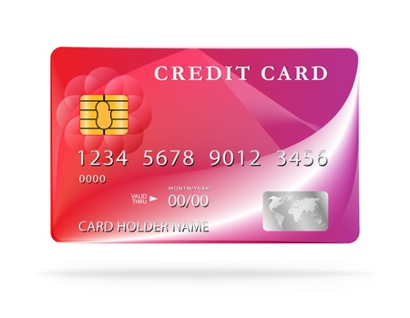 Credit card design template.