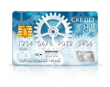 Credit card design template. Stock Vector - 20215156