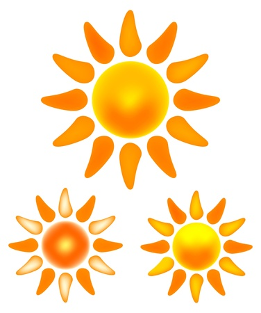 Nice set of shining sun images.  Stock Vector - 20215153