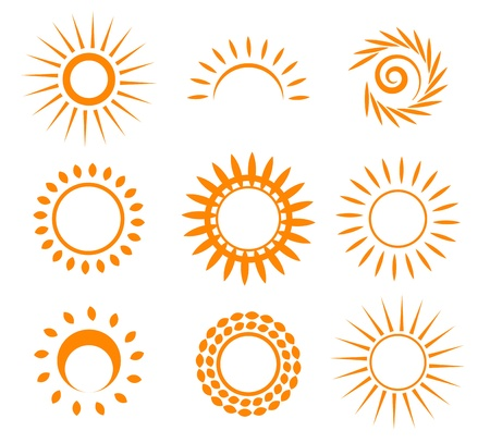 rays light: Symbolic sun set.