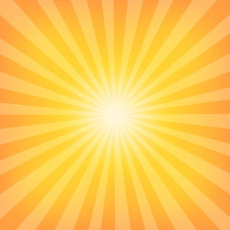 zomer: Zon Zonnestraal Patroon. Vector illustratie Stock Illustratie