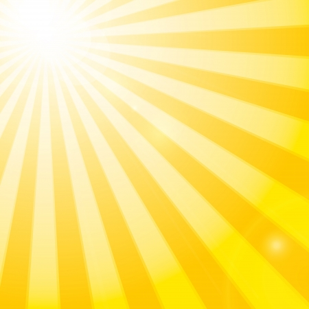 Shining sun in the cloudy blue sky. Vector illustration Фото со стока - 20328023