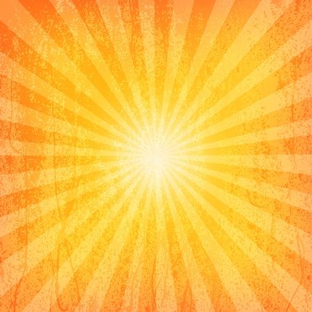 Sun Sunburst Grunge patrón ilustración vectorial
