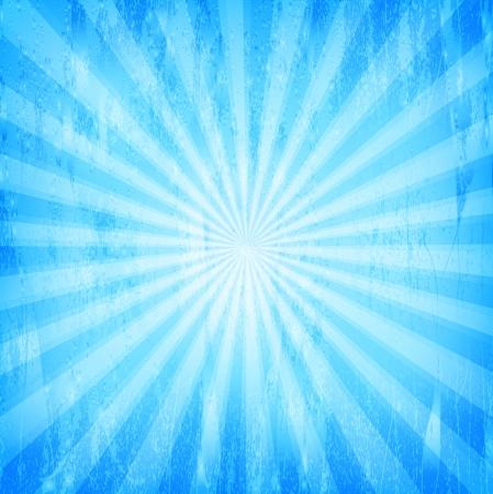 Sunburst Grunge Blue Pattern  Vector illustration