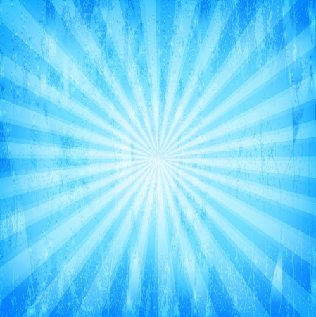 Sunburst Grunge Blue Pattern  Vector illustration