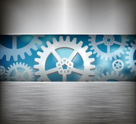 Gear wheel abstract background. Vector illustration Stock Vector - 20720110