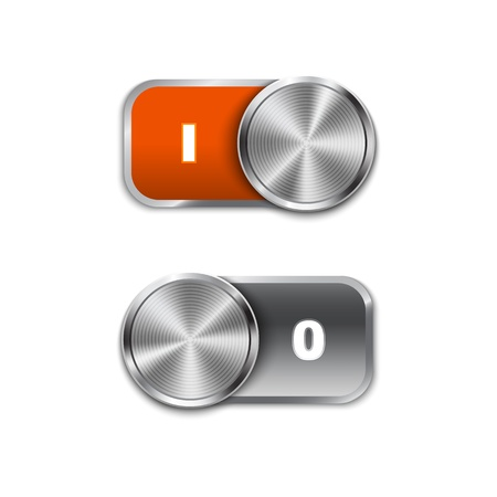 Toggle Switch On and Off position, On/Off sliders. Stock Vector - 21324682