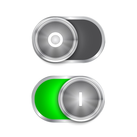 Toggle Switch On and Off position, On/Off sliders. Stock Vector - 21324677