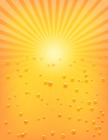 rayos de sol: Patrón Sun Sunburst con gotas de agua