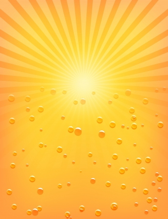 Sun Sunburst Pattern with water drops   Illustration