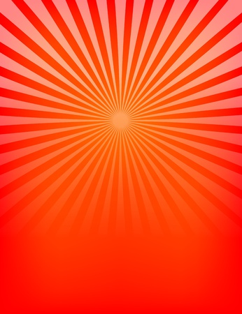 Empty Red Sunburst Pattern. Vector