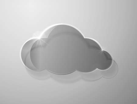 clouds scape: Glass cloud on gray background. Vector illustration Illustration