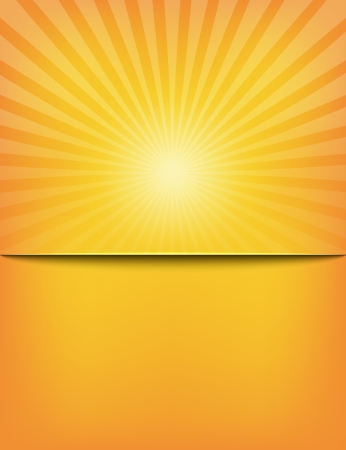 Empty Sun Sunburst Pattern template. Vector illustration