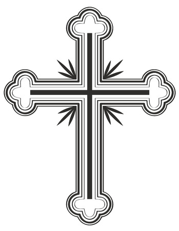 the religion: Traditional Armenian Apostolic Church cross clip art. Vector illustration Illustration