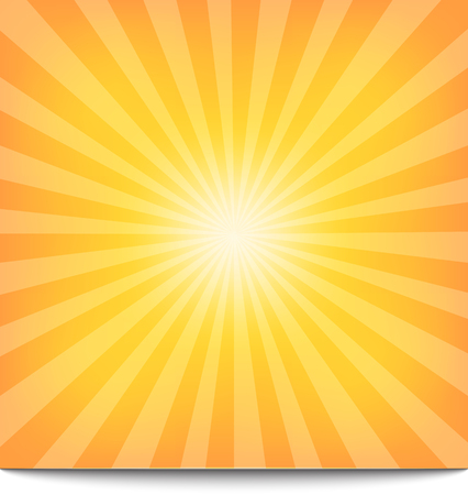 Zon Zonnestraal Patroon. Vector illustratie Stock Illustratie