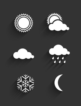 rainy days: Flat design weather icons set. Vector Illustration Illustration