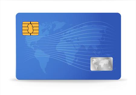Credit or debit card design template. Vector illustration Illustration