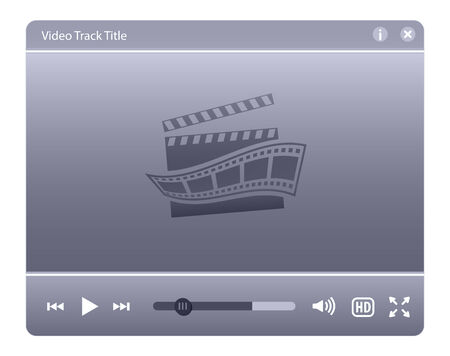 hd video: Video player interface. Web design element. Vector illustration