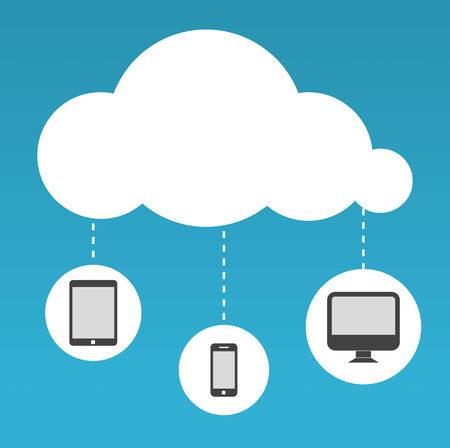 Cloud Computing abstract vector illustration in flat design Vector
