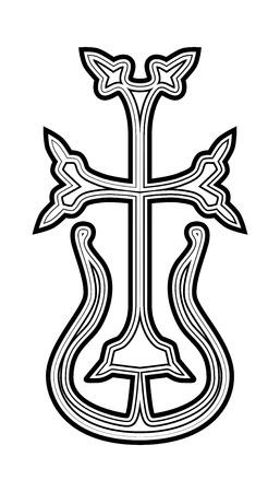 Traditional Armenian Apostolic Church cross clip art. Vector illustration Vector