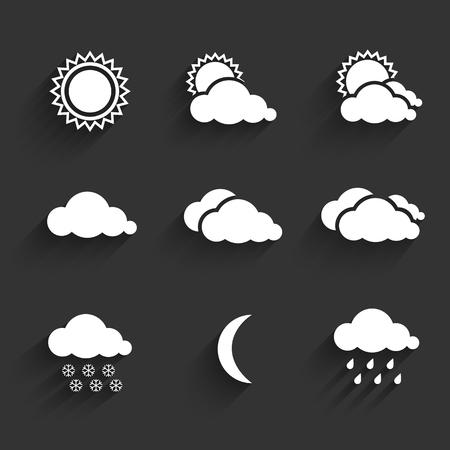 partly: Flat design weather icons set. Vector Illustration Illustration