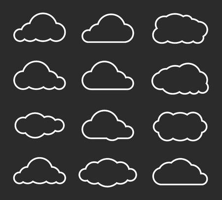 cloudscapes: Flat design cloudscapes collection. Vector illustration Illustration