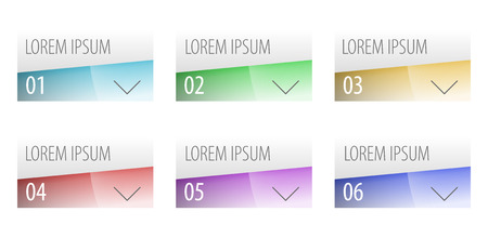colrful: Modern label style options design. Can be used for workflow layout, diagram, number options, step up options, web design, infographics. Vector illustration.  Illustration