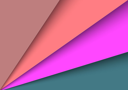 colour fan: Abstract colorful papers with blank space  Vector illustration