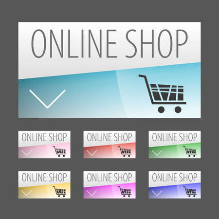 Modern label style Online shopping labels. Can be used for workflow layout, web design, infographics. Vector illustration. Vector