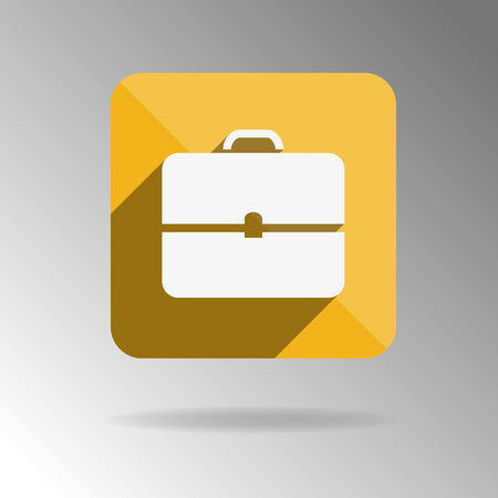 portfolio: Briefcase icon, portfolio, flat design. Vector illustration