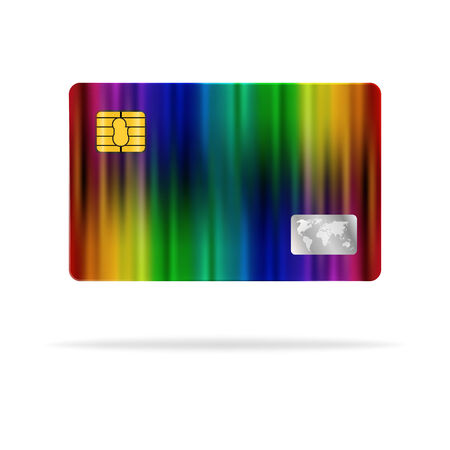 plastic card: Colorful plastic card abstract design.