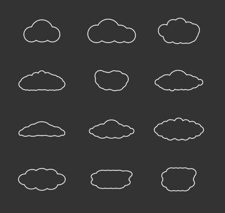 cloudscapes: Flat design cloudscapes collection  Illustration