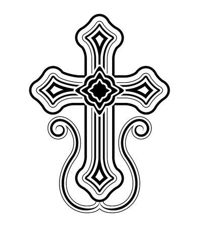 blessed trinity: Traditional Armenian Apostolic Church cross clip art  Illustration