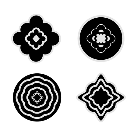 flower clip art: Rosettes set illustration