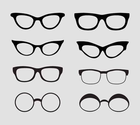 Glasses set. Vector Illustration