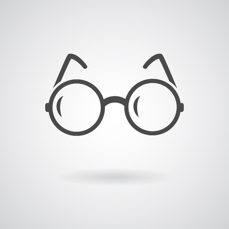Glasses icon.  Illustration