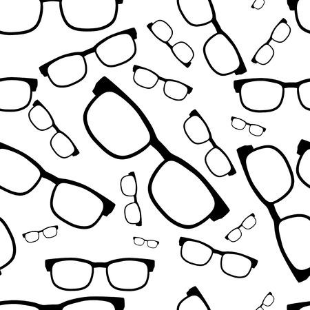 シームレスなグラス パターン、眼鏡のベクトル図