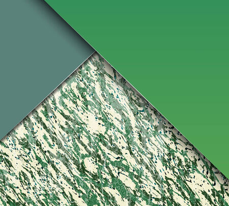 Abstract green and blue shiny marble texture with copy space. Vector illustration